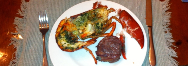 Grilled Lobster with Basil Butter