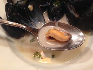 Mussels in Cilantro, Lime and Coconut Broth